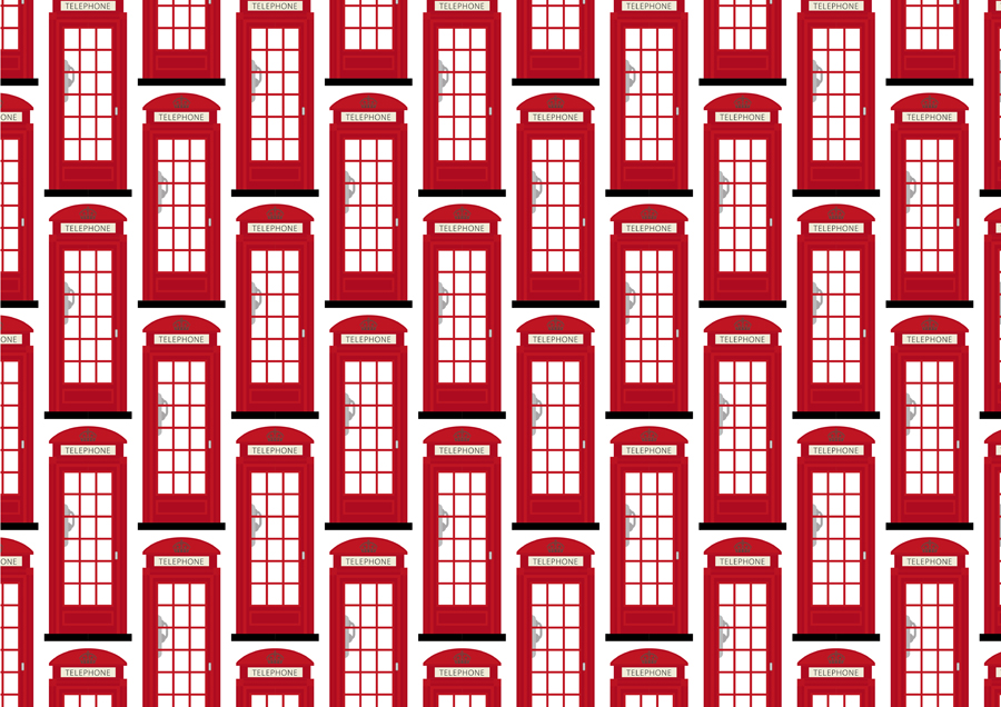 London Phone Booth wallpaper pattern