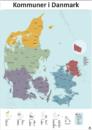 98 kommuner danmarkskort