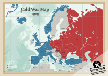 cold war map in 1989
