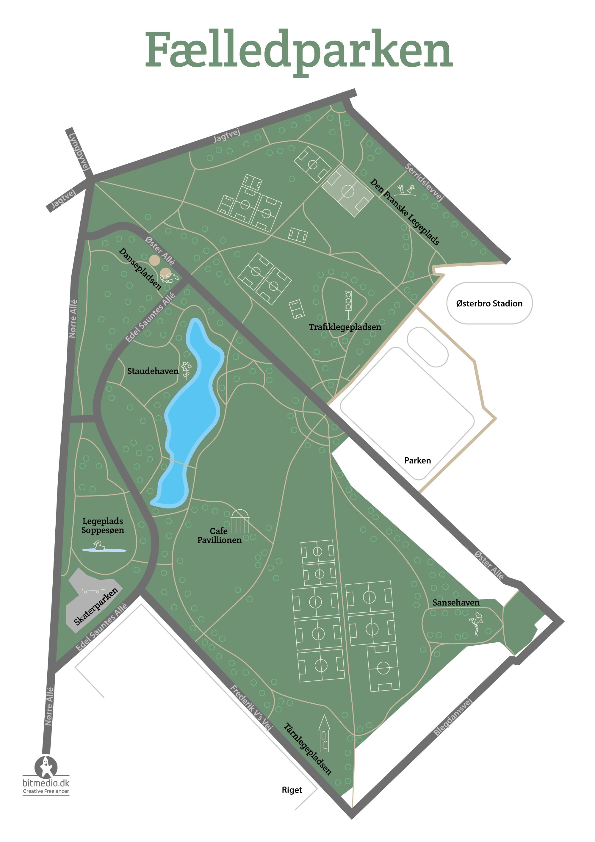 Kort design fælledparken