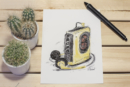 Walkman retro look artprint