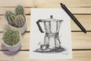 espresso moka retro look artprint