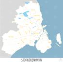 Storkøbenhavn med kommuner og jernbaner