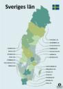 Län i Sverige grenser