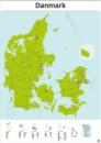 danmarkskort veje byer