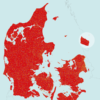 Postnumre i Danmark redigerbart kort