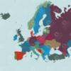 Redigerbart Europakort med lande