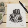 Camera retro look artprint