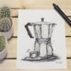 espresso moka retro look artprint