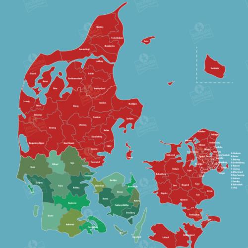 Region-med-kommuner-kort