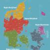 Regioner og kommuner i danmark kort