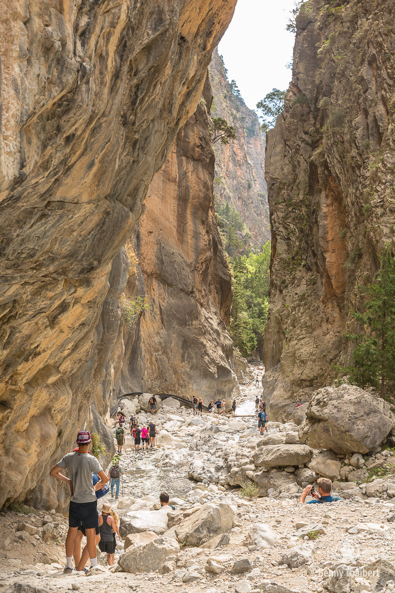 Hiking with camera in the Samaria Gorge