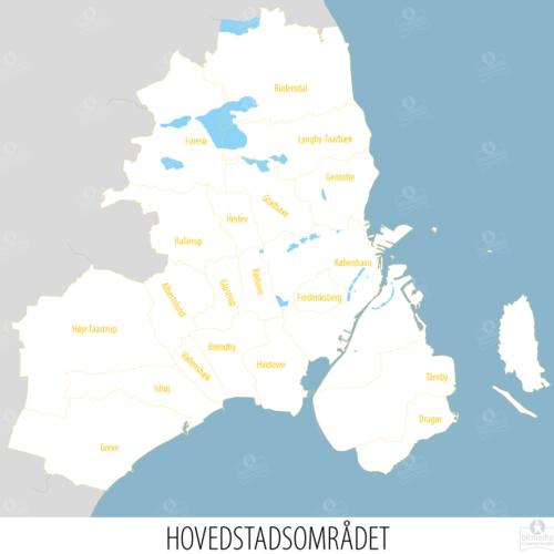 Storkøbenhavn med kommuner