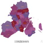 storkøbenhavn med kommunegrænser