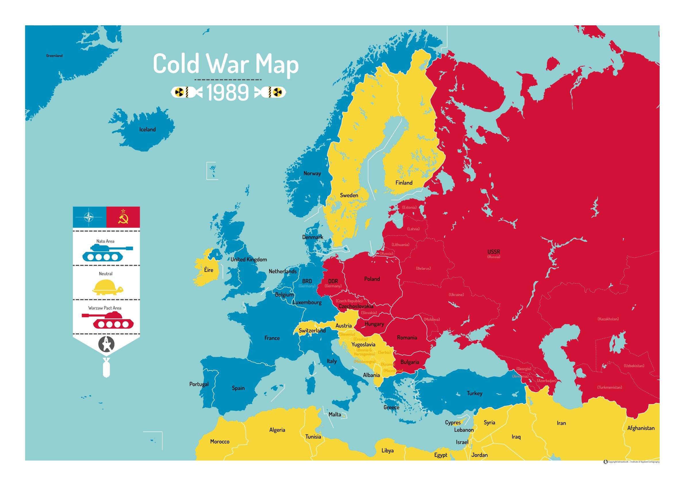 Kort over den kolde krig anno 1989 - Bitmedia